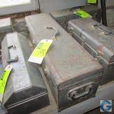 "30"" Metal tool box w/miscellane"
