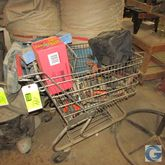 Grocery cart w/miscellaneous to