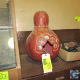 Carved gourd light w/Western mo