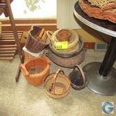 Assorted wicker baskets