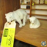 Plastic flocked polar bears