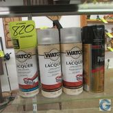 Assorted aerosol lacquer and po