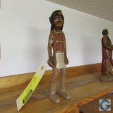 "13"" carved wood Indian, by Slim"