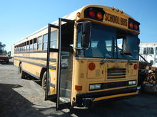 2001 BLUEBIRD SCHOOL BUS, (BURN