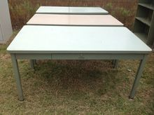 (3) OFFICE WORK TABLES