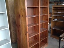 (2) WOODEN STORAGE BINS