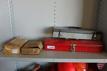 Contents of shelf: (2) metal to