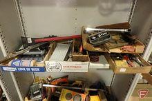 Contents of shelf: shear, metal