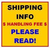 SHIPPING & HANDLING FEE INFO