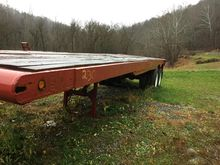 35ft flat pipe trailer with rol