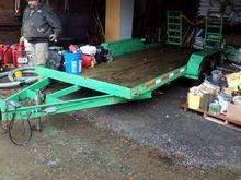 Green 16' T/A Equipment Trailer