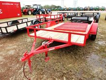 2016 CLAYS 6X10 S/A RED TRAILER