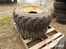 (2) Backhoe Tires