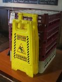 GLASS RACKS & CAUTION SIGNS