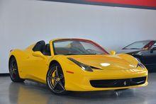 2014 Yellow Ferrari 458 Spider