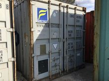 (GRAY) 20' SHIPPING CONTAINER