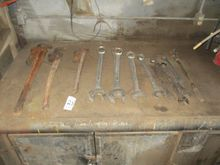 Lot of Large Wrenches and Pipe