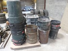 PALLET OF GARBAGE CANS