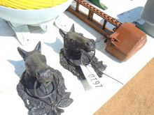 (2) Cast Iron Horse Hitches