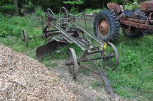 Antique pull-type road grader