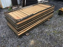 8 army style cot frames (plywoo