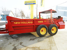 New Holland 195 tandem axle box