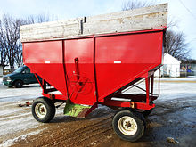 Used gravity box with 8-ton gea