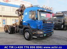 Scania P124 420 KRAN 6x4 MIT AU