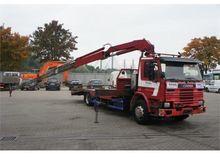 Scania 93-220 Oprijwagen + Cran
