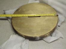 "Brass 8""x1""  Pipe Plug, 8 inch"