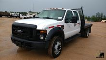 2008 FORD F550 SD FLATBED TRUCK