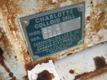 3 Horsepower Colloid Mill #9865