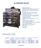 GLASSWARE DRYING OVEN big capac