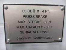 1999 Cincinnati 60 CB II x 4' 2