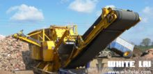 Mobile recycling crushing line