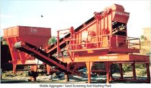 Mobile aggregate/sand screening