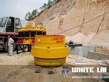 Cold-hardening rock crushing pl