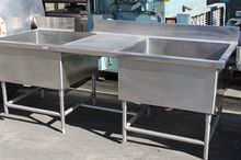 8' DUAL SINK WASH TABLE, S/S