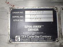 Carter-Day Spin Dryer, Style DD