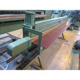Veneer saw with pneumatic press