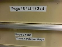 Spare parts for Pago labellers