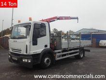 08 iveco 14 ton flat with crane