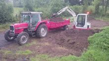 3 Ton mini digger and man for h