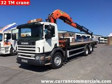 2003 scania P260 26ft flat 32tm