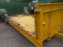Low Single axle trailer