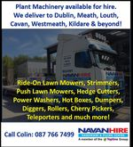 Plant Machinery for hire