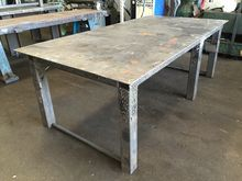 """fabricated steel table 98.5"""" x"""