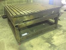 Cast Iron Tee Slotted table 6ft