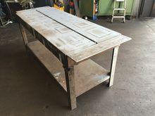 "Cast Iron table 6ft x 30"" x 34"