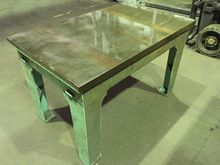 Cast Iron Surface Table 4ft x 3